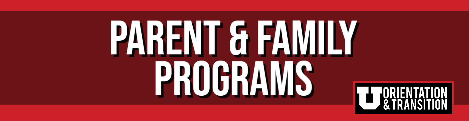 Parent & Family Programs Banner